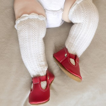 Candy Red T-Strap