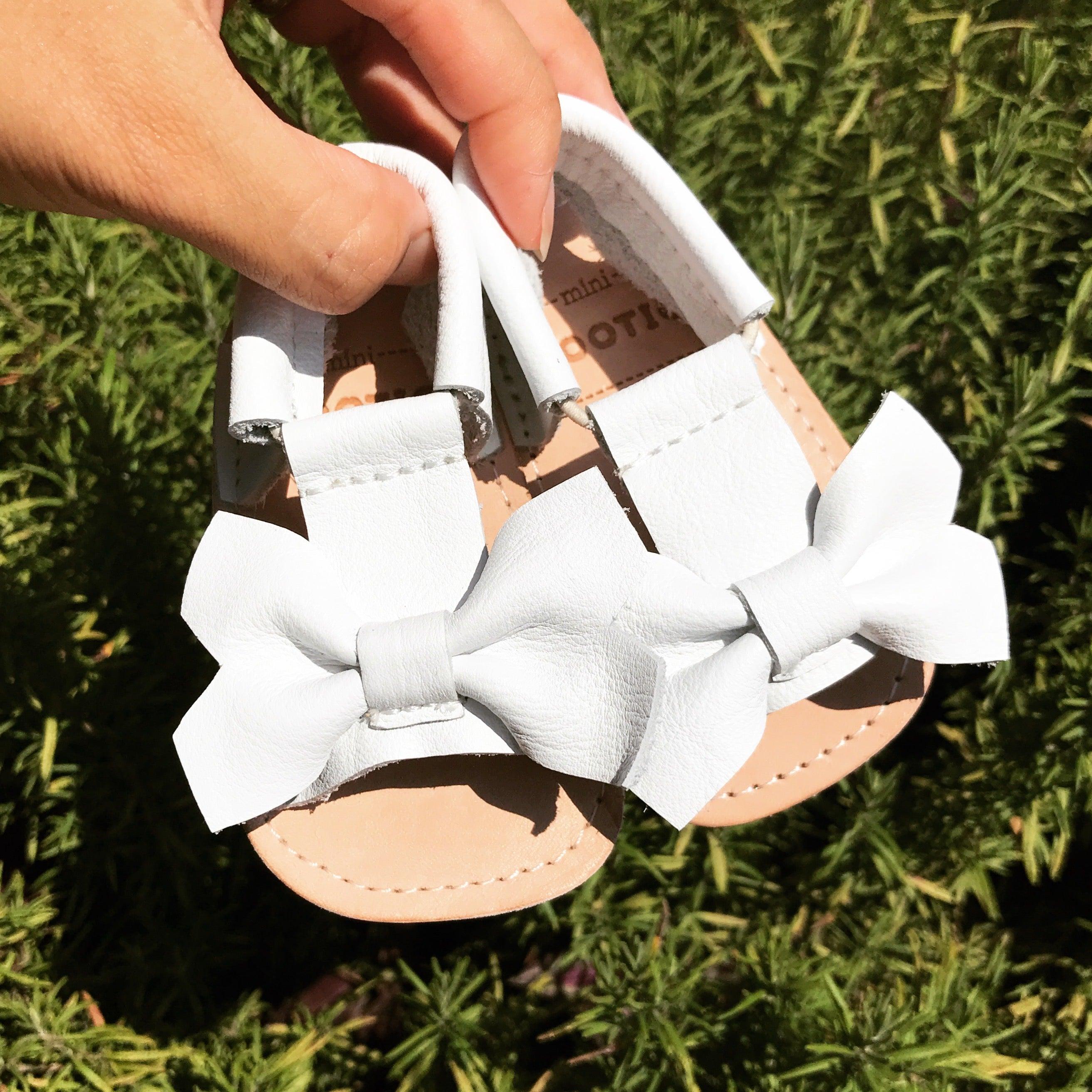 White Bow Sandal